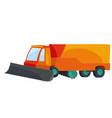 snowblower cartoon isolated object on white vector image vector image