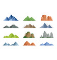 snowy mountains and mountain peak vector image vector image