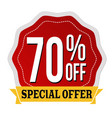 special offer 70 off label or sticker vector image vector image