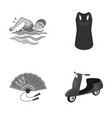 sport textiles industrial and other monochrome vector image vector image