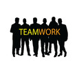 teamwork silhouette vector image vector image