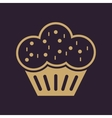 The muffin icon Dessert and baked cake bakery vector image vector image