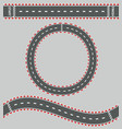 top view race roads composition vector image