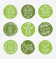 vegan and organic food set vector image vector image