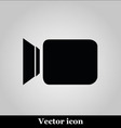 Video camera flat icon on grey background vector image vector image