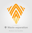 Waste separation business icon vector image vector image