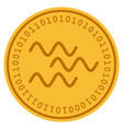 waves digital coin vector image vector image