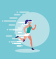 woman athlete running avatar character vector image