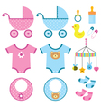 baby elements set vector image