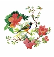 Watercolor hand drawn pattern with tropical summer vector image