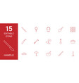 15 handle icons vector image vector image