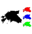 3d map of estonia vector image vector image