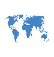 a world map isolated on a vector image vector image