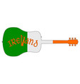 acoustic guitar silhouette with ireland national vector image vector image