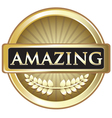 Amazing Gold Label vector image vector image