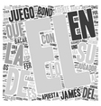 Bacara el Preferido del Agente text background vector image vector image