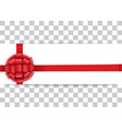 banner template with red bow and ribbon vector image vector image