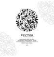 beautiful black abstract circle ornament vector image vector image
