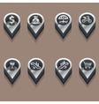 black and white travel icons people isometric vector image vector image