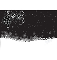 black winter background with snowflakes vector image vector image