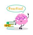brain training fun character cartoon flat vector image