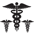 caduceus medical signs set vector image vector image