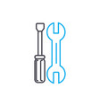 car repair thin line stroke icon car vector image