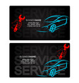 car repairs business card vector image vector image