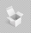 cardboard icon mockup carton box 3d isometric vector image