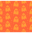 Cartoon halloween ghosts seamless pattern vector image