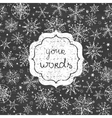chalkboard snowflakes black and white frame vector image vector image