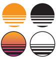 classic retro sun sunset vector image vector image