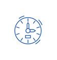 clock line icon concept clock flat symbol vector image vector image