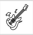 concept of flute guitar music vector image vector image