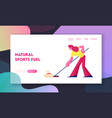 curling competition website landing page vector image