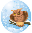 cute own on branch vector image vector image
