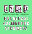 decorative rectangular sanserif bulk font vector image vector image