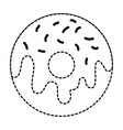 delicious donut isolated icon vector image