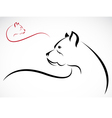 dog American pitbull vector image vector image