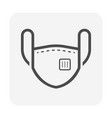 dust mask or safety equipment icon design vector image