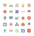 Education Flat Colored Icons 4 vector image vector image