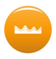 equalizer sound effect icon orange vector image vector image
