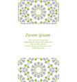 green muslim template card vector image vector image