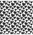 heart symbol seamless pattern hand drawn sketch vector image vector image