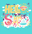 holiday concept - hello summer vector image