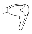 home hair dryer icon outline style vector image