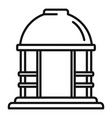house gazebo icon outline style vector image vector image