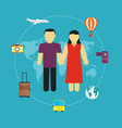 icons set traveling tourism vector image