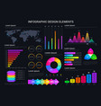 infographic design elements graphics and charts vector image