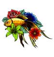 japanese koi fish tattoo vector image